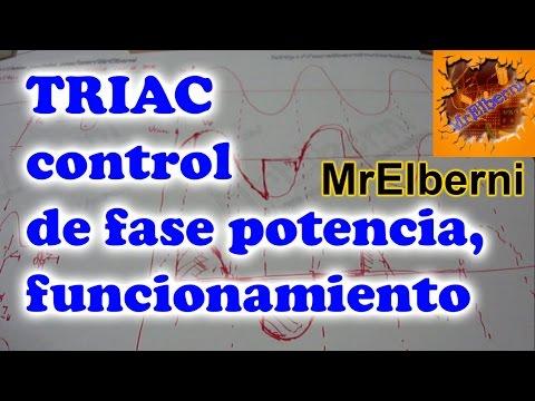 TRIAC control de fase potencia funcionamiento