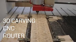 Moldings and Baguettes with 3D carving CNC Router Machine
