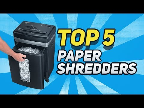 ▶️  Best Paper Shredders In 2018