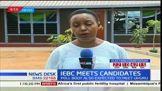 IEBC meets candidates: IEBC meets NASA principals over poll