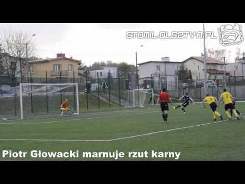 Piotr Głowacki zmarnował rzut karny w meczu Stomil II Olsztyn - Omulew Wielbark 2:2