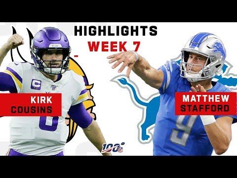 Kirk Cousins & Matthew Stafford QB Battle | NFL 2019 Highlights