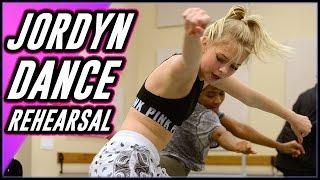 JORDYN JONES BEHIND THE SCENES- DANCE REHEARSALS