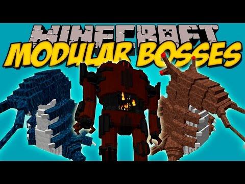 MODULAR BOSSES MOD - Bosses épicos con animaciones!! - Minecraft mod 1.8 Review ESPAÑOL
