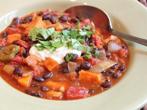 Sweet Potato & Black Bean Chili – Help Fight Childhood Malnutrition!