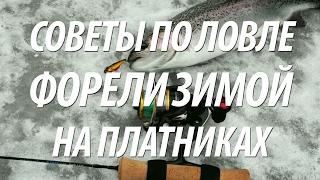 Рыбалка на платнике зимой