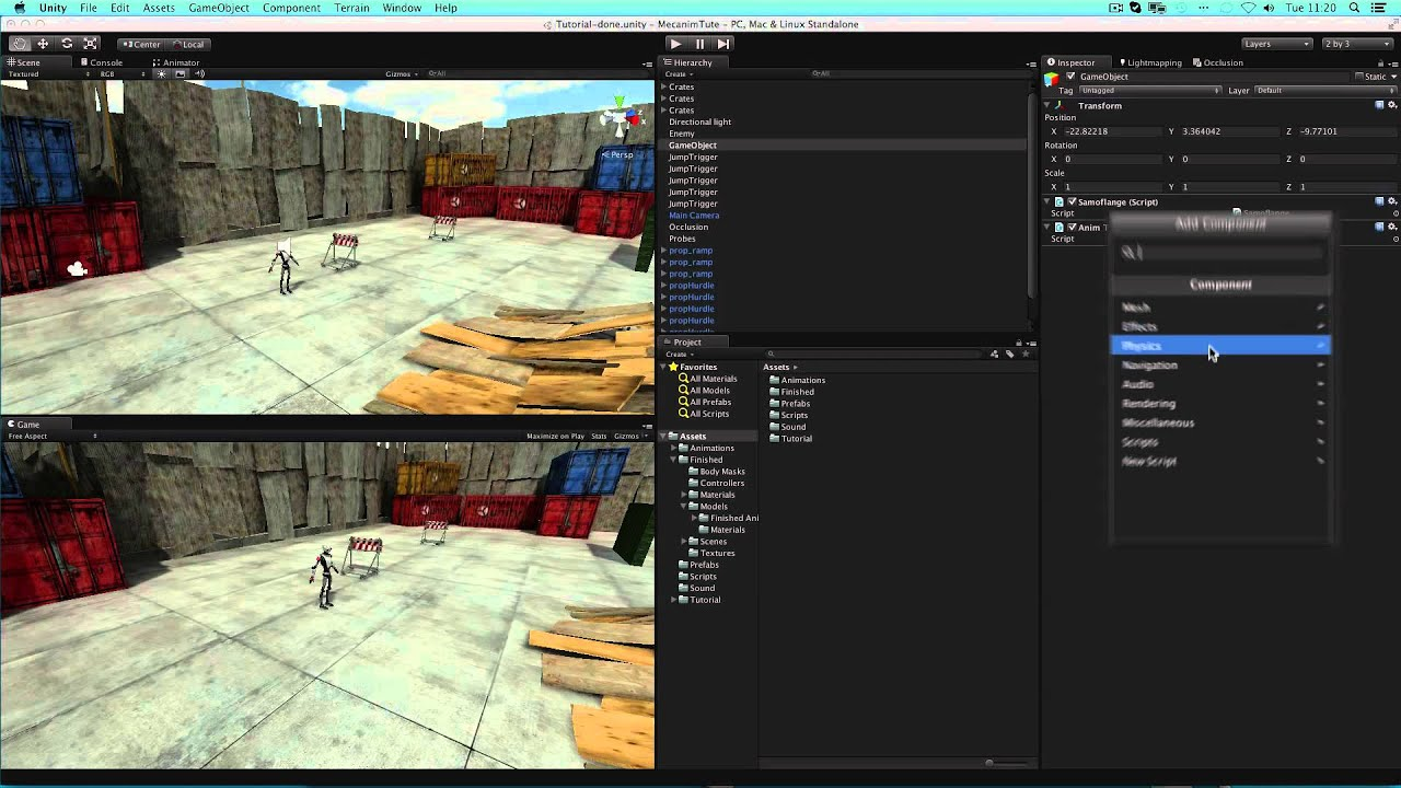 Game Objects and Components - Unity Official Tutorials