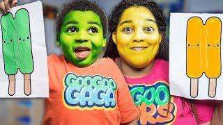 POPSICLE CHANGE MOM DIFFERENT COLORS! Goo Goo