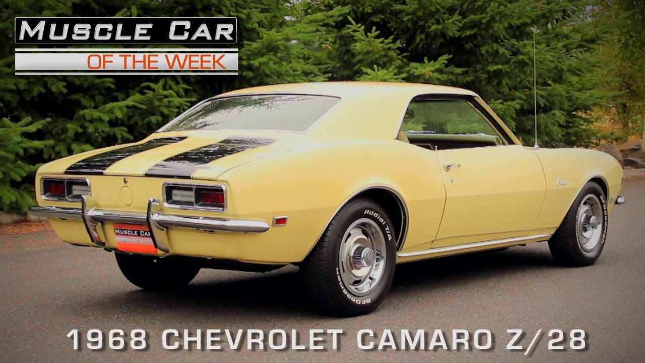 Muscle Car Of The Week   1968 Chevrolet Camaro Z 28  Muscle Car Of     1968 Camaro Z  28