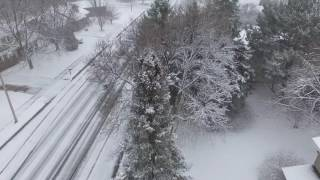 Winter Storm from Drone