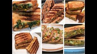 6 Best Veg Sandwich Recipes | 6healthy Sandwich recipes for kids | Healthy Breakfast/Lunch box Ideas