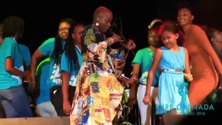 Angelique Kidjo performing Mama Africa
