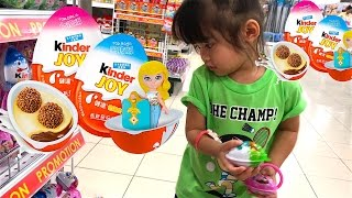Kids Toys Shopping Kinder Joy Surprise Eggs Opening New Toys Video for Kids