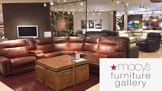 MACYS FURNITURE GALLERY SOFAS COUCHES ARMCHAIRS HOME DECOR SHOP WITH ME SHOPPING STORE WALK THROUGH