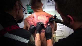 Tatto Lucio International Eagle Tattoo - Shadows - Four Hands Tattooing
