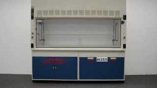 8′ Fisher Hamilton Safeaire Laboratory Fume Hood w/ Acid Flammable Cabinets