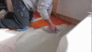 How to spread thinset for tile