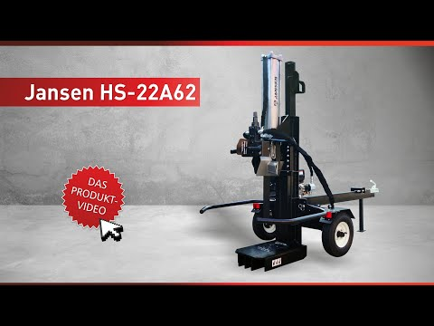 Holzspalter Jansen HS-22A62, 22 t, 62cm, Benzinmotor, stehend+liegend