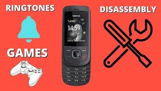 Nokia 2220 slide Review/Disassembly/Ringtones/Games/Camera/Battery