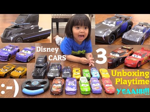 Disney CARS 3 Diecast Cars and Truck. Jackson Storm 2.0 RC TOY Car. Learn How to Count