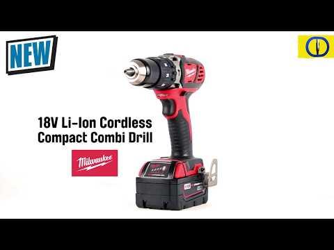 Milwaukee M18BPD 18V Li-Ion Cordless Compact Combi Drill