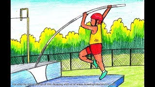 How to Draw a Pole Vaulter - Step by Step