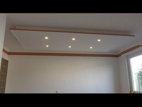 Decke abhängen und LED Strahler und LED Strips light einbauen ( Tutorial )