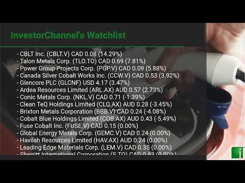 InvestorChannel's Cobalt Watchlist Update for Monday, Marc ... Thumbnail