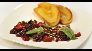 Тартар из говяжьего сердца | Субпродукты