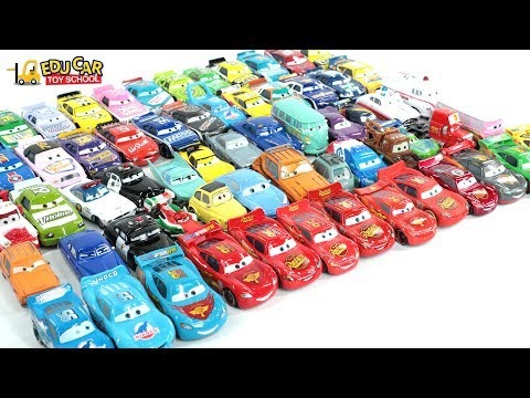 Learning Color Number With Special Disney Pixar Cars Lightning McQueen for kids car toy