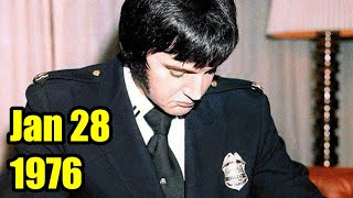 INCREDIBLE PHOTO OF ELVIS THE POLICEMAN, 1976 | Generous King Pays for Funeral & Attends in Uniform