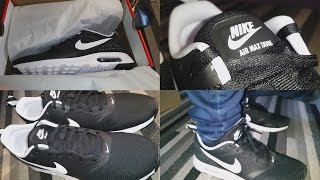 NIKE AIR MAX TAVAS BLACK AND WHITE UNBOXING + ON FEET [4K]