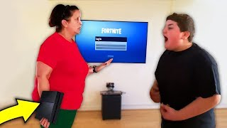 kid SLAPS mom to get his PS4 back.. (fortnite)