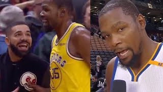 Kevin Durant Gives Drake A TITTY TWISTER & His Jersey After SAD Loss To Raptors