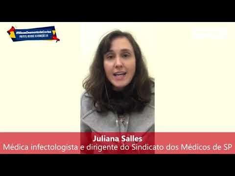 Juliana Salles, médica infectologista e dirigente do Simesp, fala sobre o desmonte da Covisa