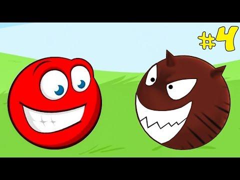 Несносный КРАСНЫЙ ШАРИК спасает любимую #4. Мультик ИГРА Red Ball 3 на Игрули TV видео