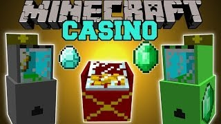 Minecraft: CASINO MOD (SLOT MACHINES, PRIZES, DIAMONDS,&EMERALDS) Mod Showcase