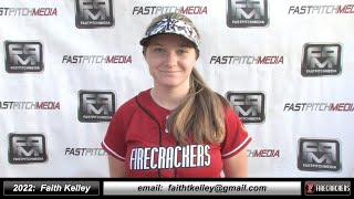 2022 Faith Kelley Athletic Slapper and Outfielder Softball Skills Video - Firecrackers EP