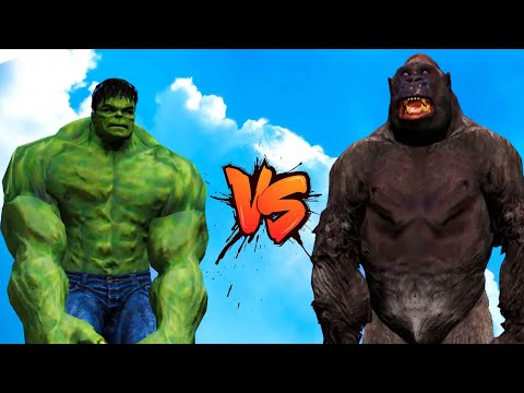 GTA 5 Hulk VS Kingkong Funny Moment - Battle | Grand Theft Auto V