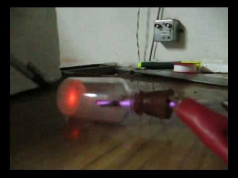 Un tubo de rayos catódicos casero