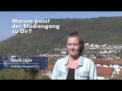 Thumbnail YouTube Video mit Foto der Studentin und der Frage: Warum passt der Studiengang zu Dir?
