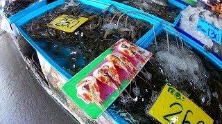 รีวิวตลาดแสมสาร ตลาดอาหารทะเล ตลาดซีฟู้ดแสมสาร สัตหีบ ชลบุรี 2562