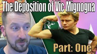 The Deposition Of Vic Mignogna   Part 1