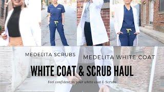 MEDELITA WHITE COAT & SCRUB HAUL | Honest Review
