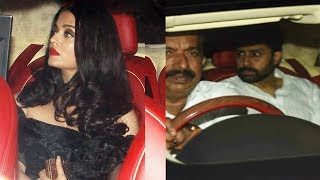 Aishwarya Rai and Abhishek Bachchan SPOTTED At Karan Johar Grand Birthday Party