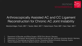Chronic AC Joint Instability Repair With Dogbone/Tape Construct and Tendon Graft pe