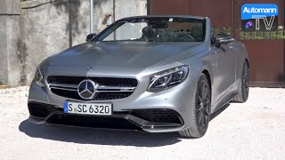 2017 Mercedes-AMG S63 Cabrio (585hp) - DRIVE & SOUND (60FPS)