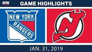 NHL Highlights | Rangers vs. Devils - Jan. 31, 2019
