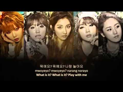 4 Minute   What's your name ~ lyrics on screen KOR ROM ENG