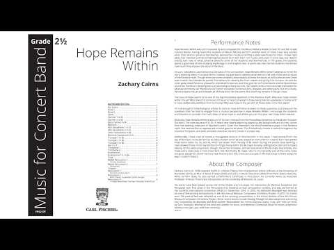Hope Remains Within (YPS217) by Zachary Cairns